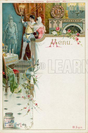 Scene from Mozart's opera Don Giovanni. Liebig menu card, early 20th Century.