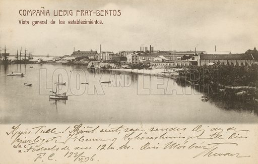 General view of the Liebig's Extract of Meat Company works at Fray Bentos, Uruguay.