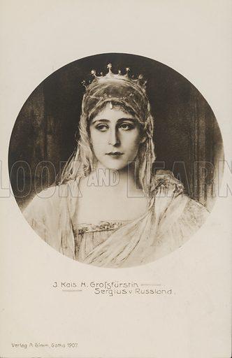 Grand Duchess Elizabeth Feodorovna (1864-1918), wife of Grand Duke Sergei Alexandrovich of Russia. Postcard, early 20th century.