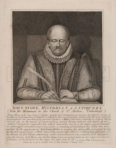 John Stow (c1524-1605), English historian and antiquary.