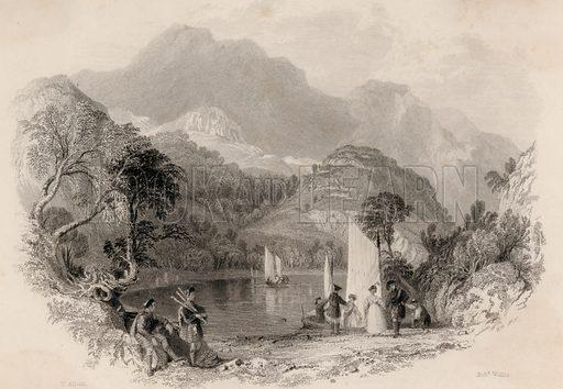 Pass of the Trossachs, Loch Katrine, Scotland.