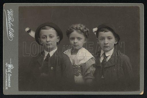 Portrait of three Austrian children.