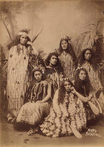 Maori women from New Zealand. Postcard, late 19th Century.