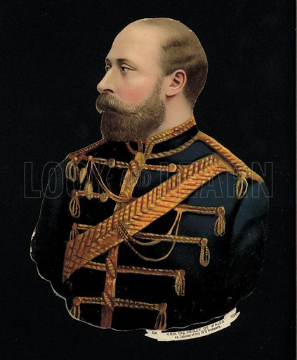 King Edward VII when Prince of Wales, as Colonel of the 10th Hussars.
