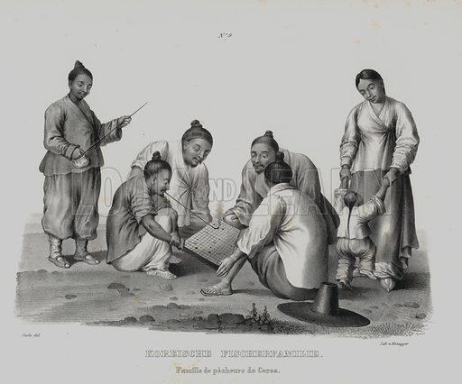 Family of Korean fishermen.