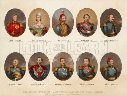 Allied sovereigns and military commanders of the Crimean War, 1854-1856.