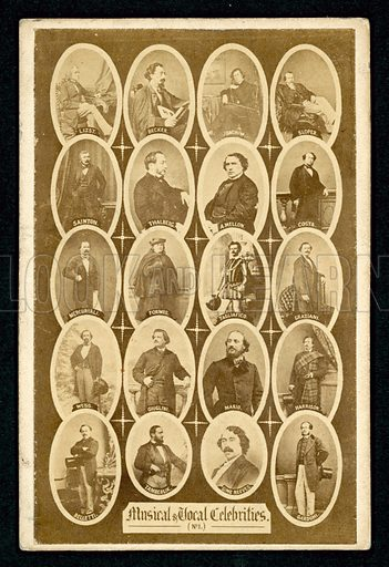 Musical and vocal celebrities, 19th Century.
