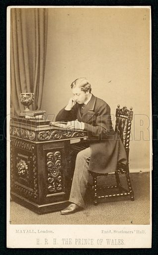 King Edward VII (1841-1910) when Prince of Wales.