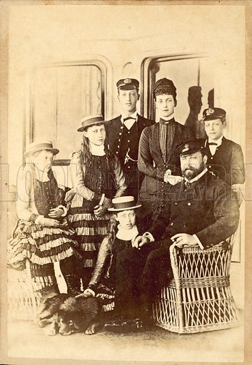 The Prince and Princess of Wales (future King Edward VII and Queen Alexandra) with their children.