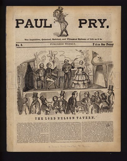The Lord Nelson Tavern, cover of Paul Pry, 19th Century.