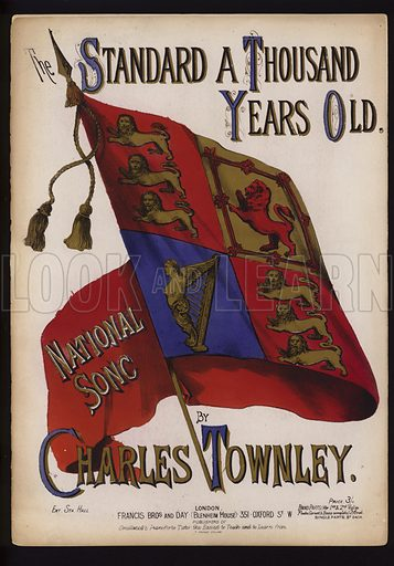 A Standard a Thousand Years Old, by Charles Townley, Victorian sheet music cover.