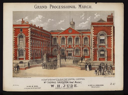 Grand Processional March, by W H Jude, Victorian sheet music cover.