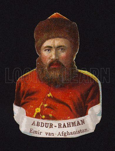Abdur Rahman Khan (c1840-1901), Emir of Afghanistan.
