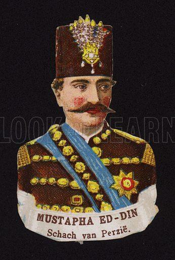 Mozaffar ad-Din Shah Qajar (1853-1907), Shah of Persia.