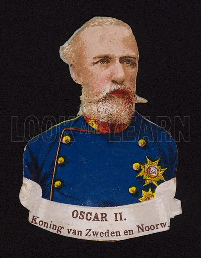 Oscar II(1829–1907), King of Sweden and Norway.