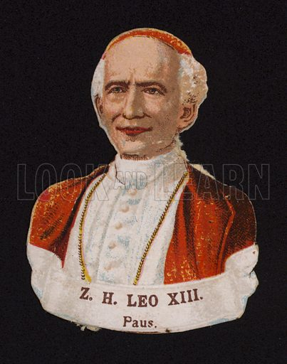 Pope Leo XIII (1810-1903).