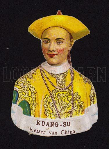 Guangxu Emperor of China (1871-1908).