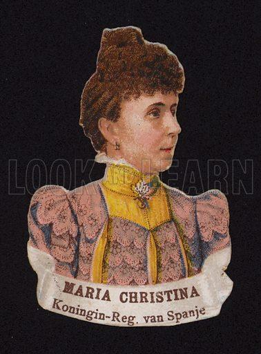 Maria Christina of Austria (1858-1929), Regent of Spain.
