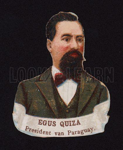 Juan Bautista Egusquiza (1845-1902), President of Paraguay.