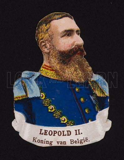 Leopold II (1835-1909), King of the Belgians.