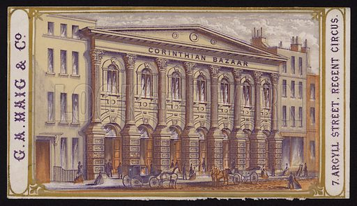 Corinthian Bazaar, 7 Argyll Street, Regent Circus, London.