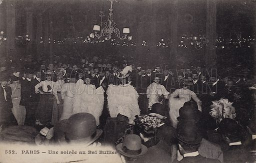 An evening at the Bal Bullier, Paris, France, c1900. Postcard, late 19th or early 20th Century.