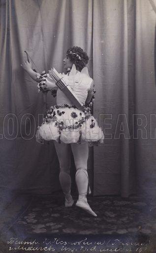 Ballerina as Cupid. Postcard, early 20th Century.