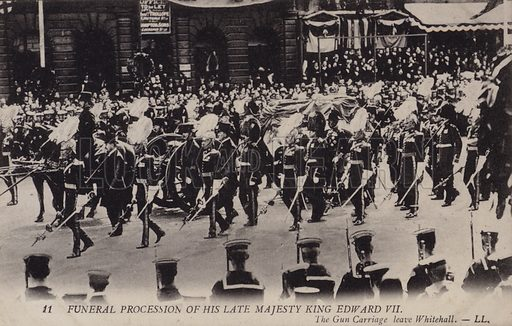 Funeral procession of King Edward VII, London, 1910. Postcard, early 20th Century.
