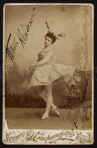 Ballet dancer. Postcard, late 19th or early 20th Century.