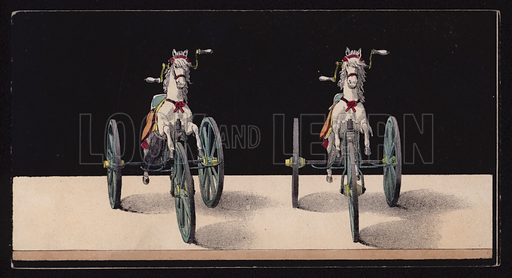 Horse tricycle.