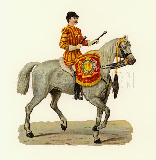 British Army drummer of the Household Cavalry.