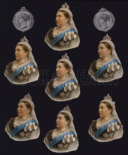 Queen Victoria, portraits and medals.