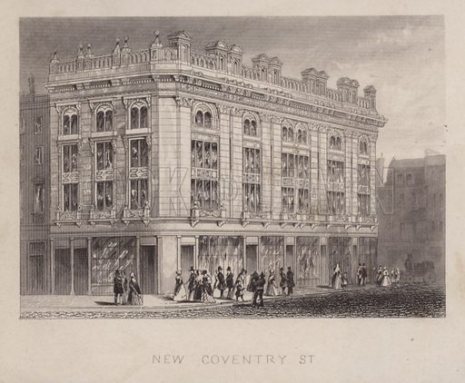 New Coventry Street, London.