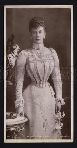 Mary of Teck (1867-1953), Princess of Wales, wife of the future King George V.