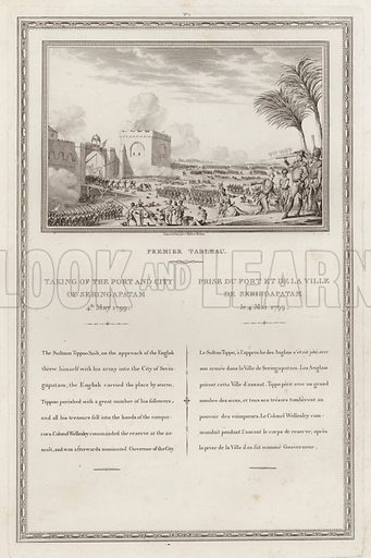 Capture of the fort and city of Seringapatnam by the British, Fourth Anglo-Mysore War, India, 1799.
