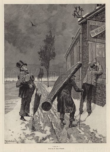 Sold!. Illustration from the Christmas edition of the Penny Illustrated Paper, 1894.