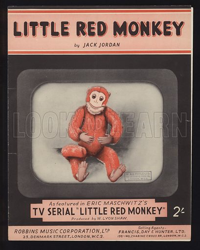 Little Red Monkey, by Jack Jordan, sheet music cover.