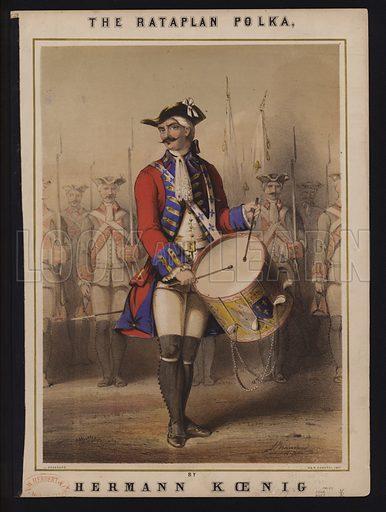 The Rataplan Polka, by Hermann Koenig, Victorian sheet music cover.