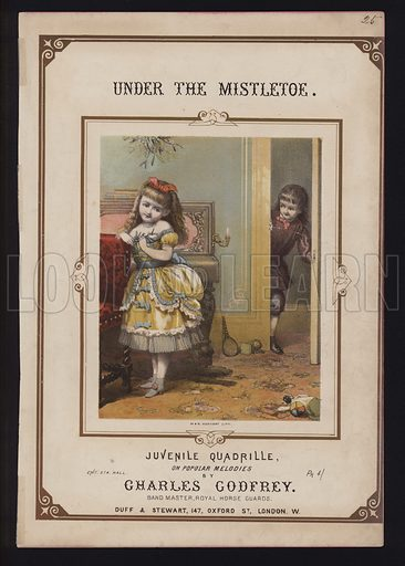 Under the Mistletoe, by Charles Godfrey, Victorian sheet music cover.