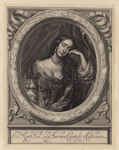 Barbara Villiers (1640-1709), Countess of Castlemaine, mistress of King Charles II.
