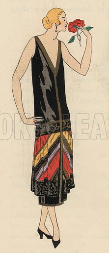 Women's evening wear fashion of the 1920s by designer Georges Doeuillet