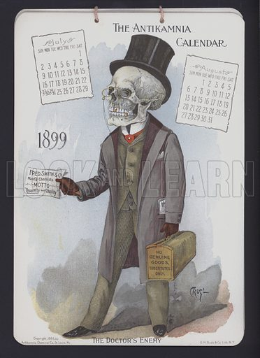 Illustration for Antikamnia Calendar, 1899.