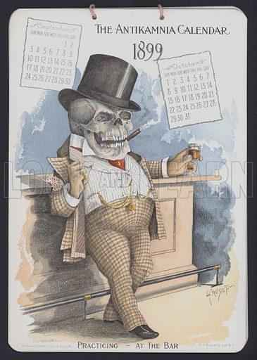 Illustration for Antikamnia Calendar, 1899.