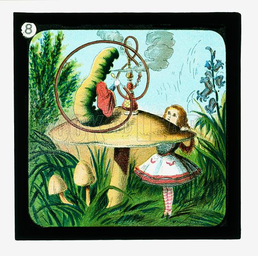 Alice in Wonderland, Coloured Lantern Slides.  Primus Junior Lecturers' Series, c 1900.