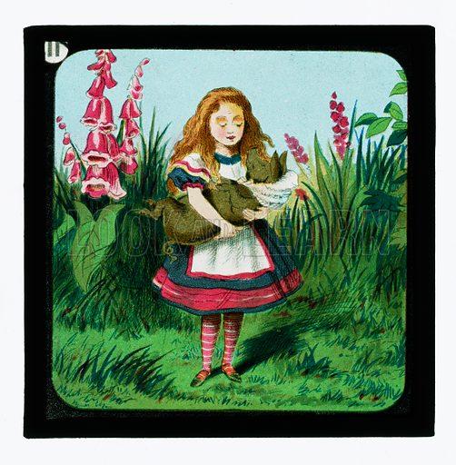 Alice in Wonderland, Coloured Lantern Slides. Primus Junior Lecturers' Series, c 1900.
