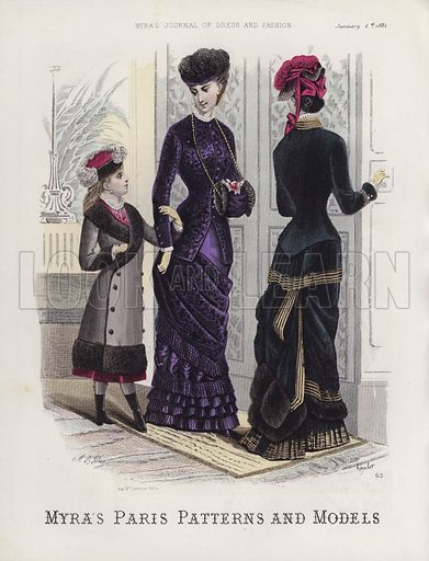 Myra's Paris Patterns and Models. Illustration for Myra's Journal of Dress and Fashion, 1 January 1881.