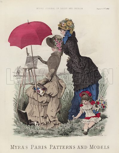 Myra's Paris Patterns and Models. Illustration for Myra's Journal of Dress and Fashion, 1 August 1882.