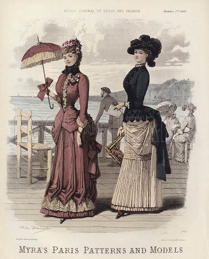 Myra's Paris Patterns and Models. Illustration for Myra's Journal of Dress and Fashion, 1 October 1882.