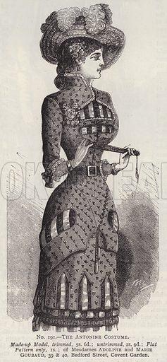The Antonine Costume. Illustration for Myra's Journal of Dress and Fashion, 1 September 1881.