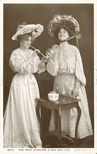 English stage actresses and singers, Zena Dare and Marie Studholme
